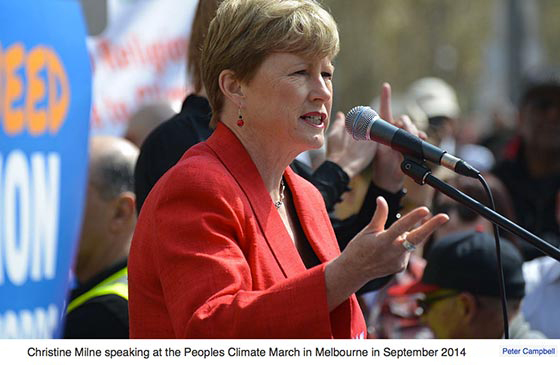 Australia | Christine Milne: 'Depoliticise the climate emergency'