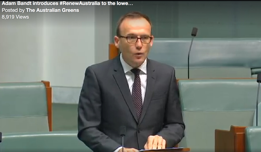 Australia |Adam Bandt: We are in the middle of a climate emergency